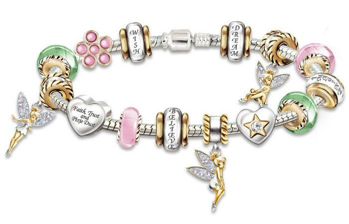 """Fantasy Collectibles and Jewelry - """"Faith, Trust & Pixie Dust"""" Tinker Bell Charm Bracelet"""