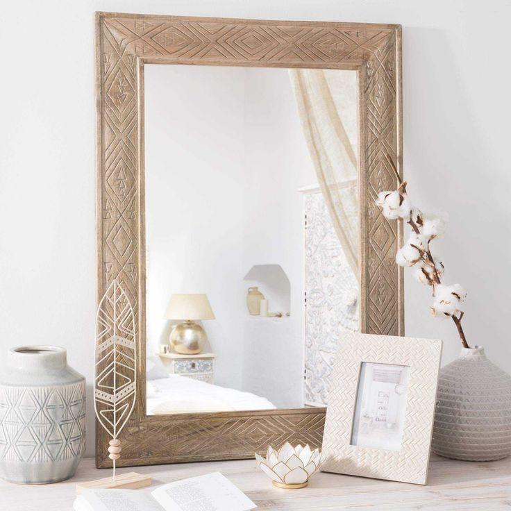 engraved-effect mirror 56 x 75 cm | Maisons du Monde