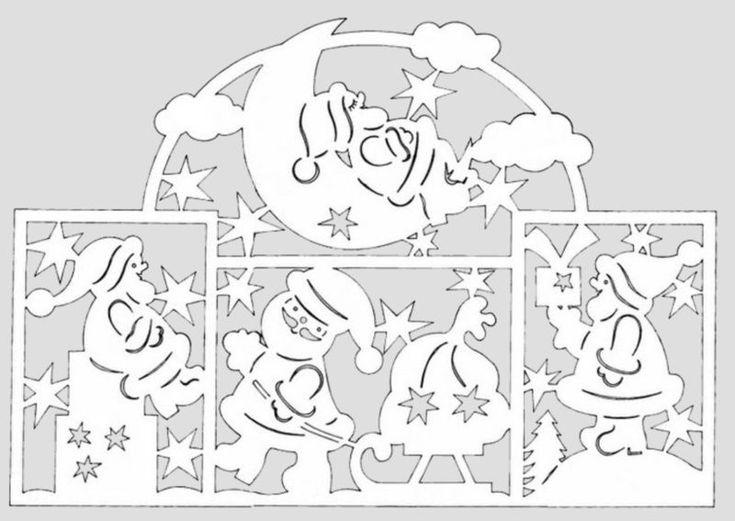 Новогодние вытынанки для открыток шаблоны, новогодняя открытка объемные