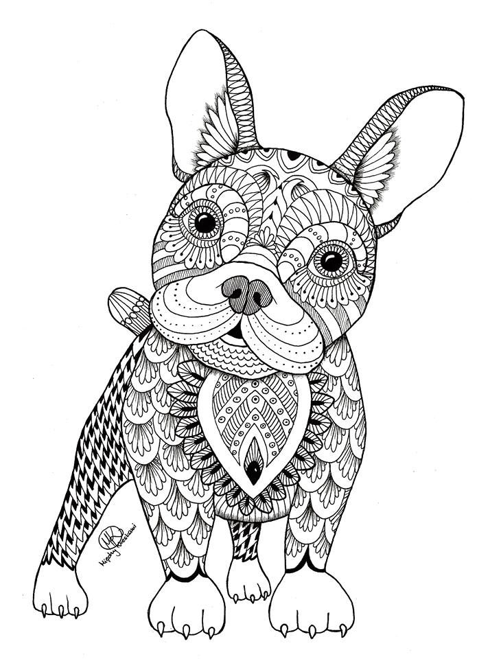 adult coloring pages of animals-#16