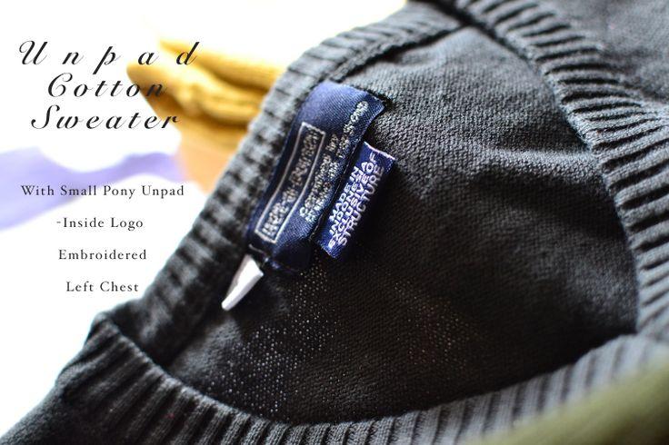 Unpad Cotton Sweater