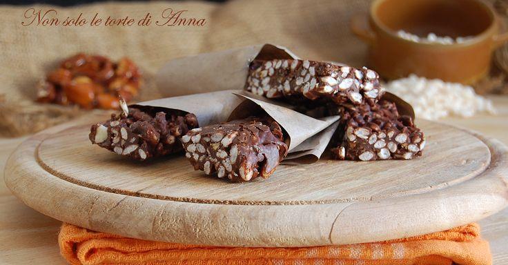 Snack al cioccolato e mandorla