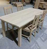 zandstralen meubelen tafels stoelen kasten dressoirs decoratie hout