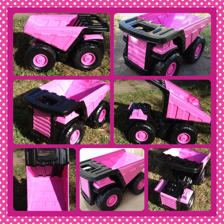 Construction Toys For Girls : Pink tonka truck i ve attempted myself
