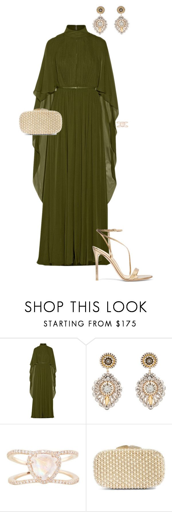 """Golden Globes"" by ccoss on Polyvore featuring Elie Saab, Miguel Ases, Luna Skye, Glint and Gianvito Rossi"