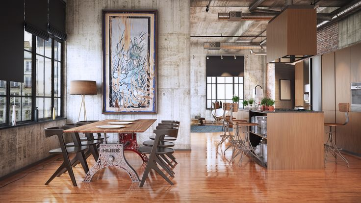 The Digital Hure & our Rebar bar chairs – by Vintage Industrial in Phoenix...
