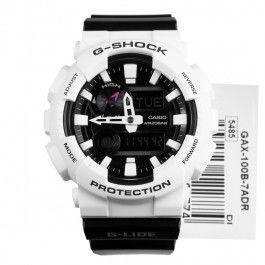 GAX-100B-7A GAX-100B Casio G-Shock G-LIDE Quartz Black White Surfer Sports Watch