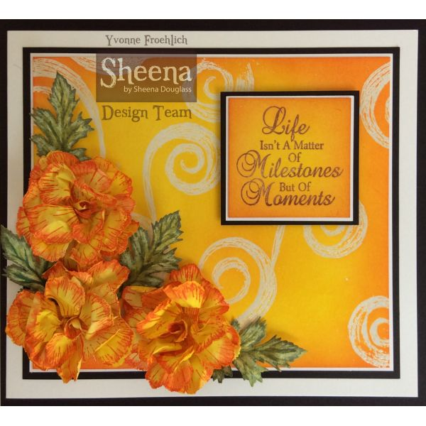 Sheena Douglass Perfect Partners Country Cottage Classic Carnations Stamp