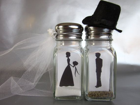 Hey, I found this really awesome Etsy listing at https://www.etsy.com/listing/157098451/fireproof-bride-and-groom-salt-and