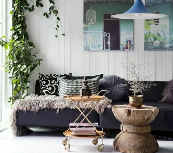 1-décorer-son-salon-peintures-plantes-vertes