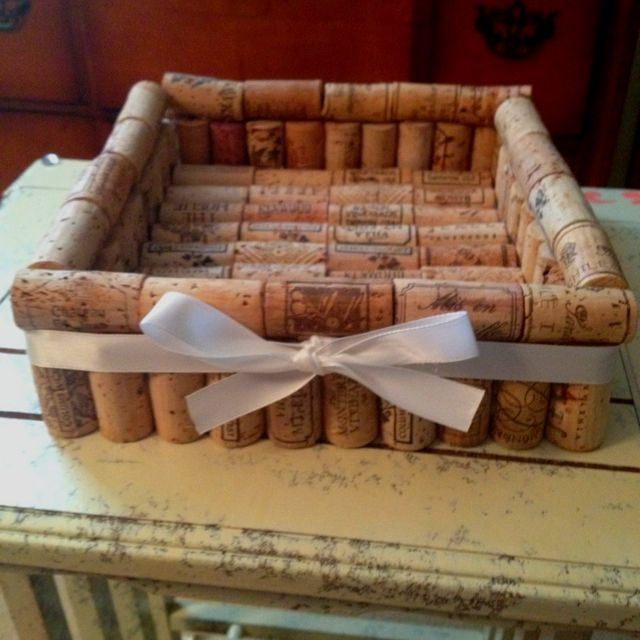 Napkin holder made out of wine corks!