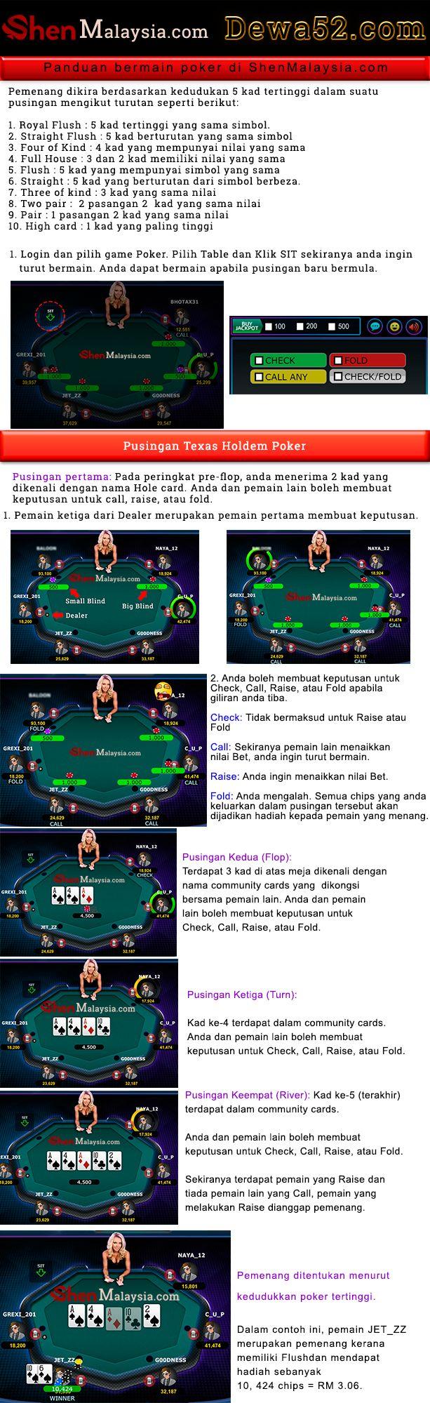 Cara main poker Poker, Texas holdem poker, Texas holdem