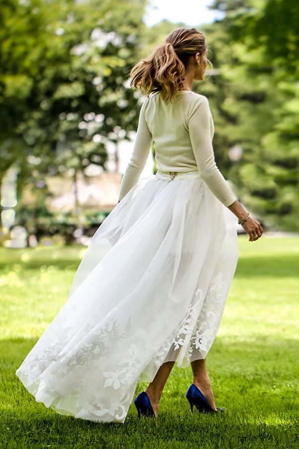 Olivia Palermo married in a Carolina Herrera dress... and sweater | Elle