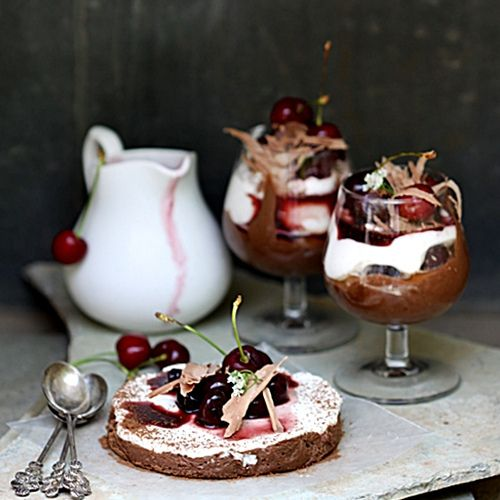 Bittersweet Chocolate Marquise with Crème Chantilly & Balsamic Cherry ...