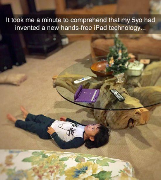 Smart kid!!