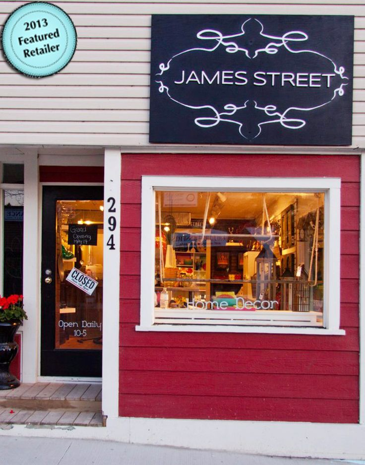 JAMES STREET 294 Bridge St. Port Stanley, ON James Street is a unique giftware and décor store that is family run in quaint downtown Port Stanley, ON.  If you are searching for that unique item for someone special or for the person who has everything, you are sure to find the perfect gift.  They also offer handmade wreaths for every occasion & holiday.  Next time you are in Port Stanley, drop by for a fun shopping experience, you won't be disappointed.