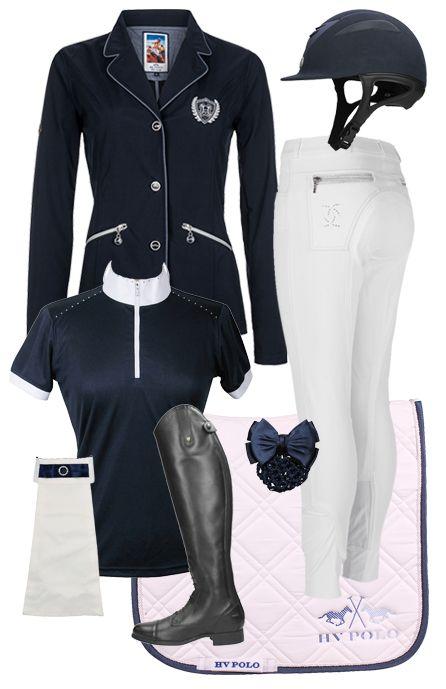 Competition set Dark Blue-White #competition #summer17 #horsefashion #epplejeck