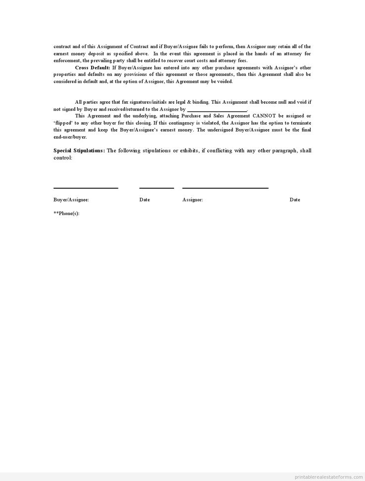 assignment of contract form Consent to assignment of a contract, consent to assignment of a contract form notice the information in this document is designed to provide an outline that you can follow when formulating business or personal plans.