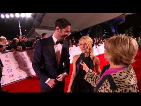 Tom Ellis & Sarah Hadland interview: Miranda Cast Red Carpet National Television Awards, January 2014