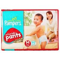 Pampers - Active Baby Pants M 60 Diapers (7-12 Kg), by Pampers