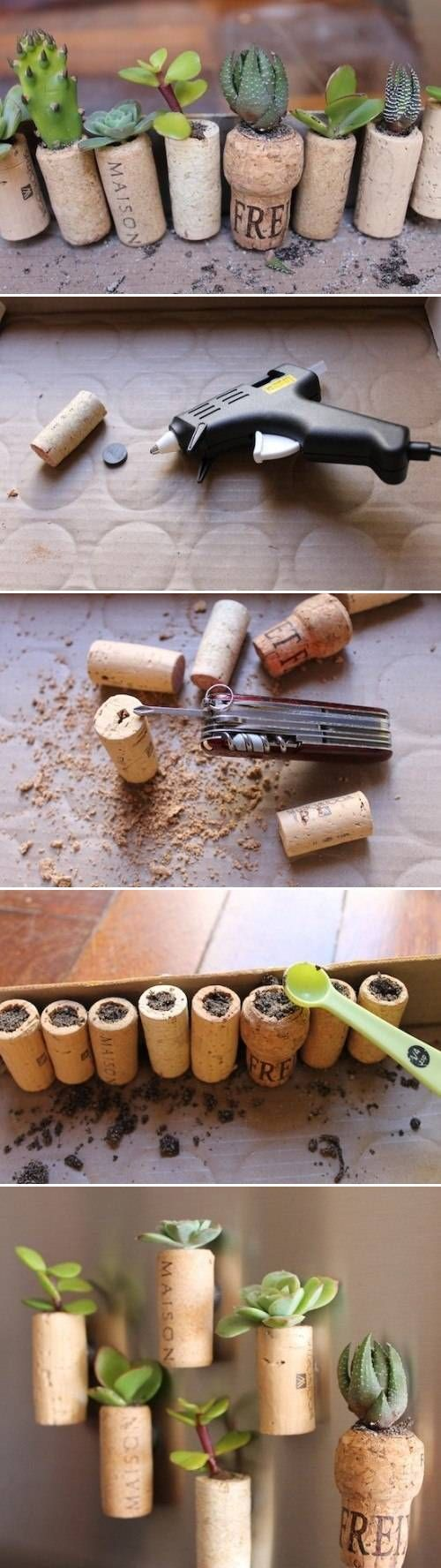 Well that's kinda cute. I have plenty of wine corks.  DIY Wine Cork Garden DIY Projects