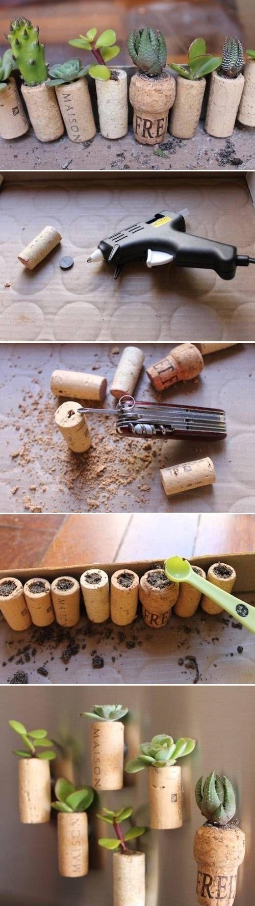 DIY Wine Cork Garden DIY Projects