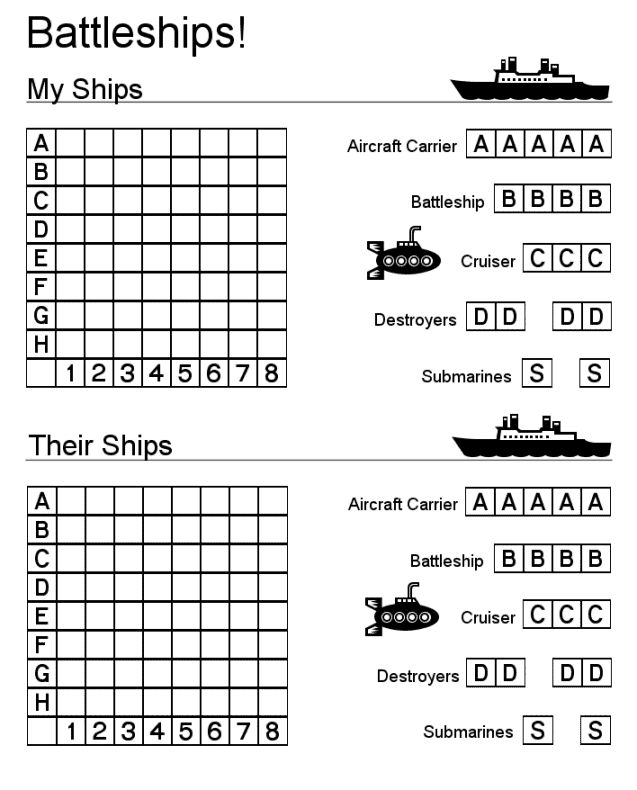 BATTLESHIPS GAME | learningenglish-esl