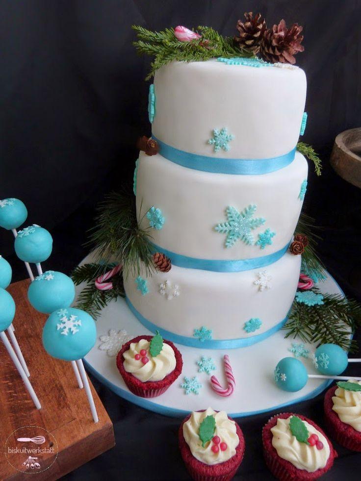 Winter-Hochzeit Sweet table, winter wedding http://biskuitwerkstatt.blogspot.com