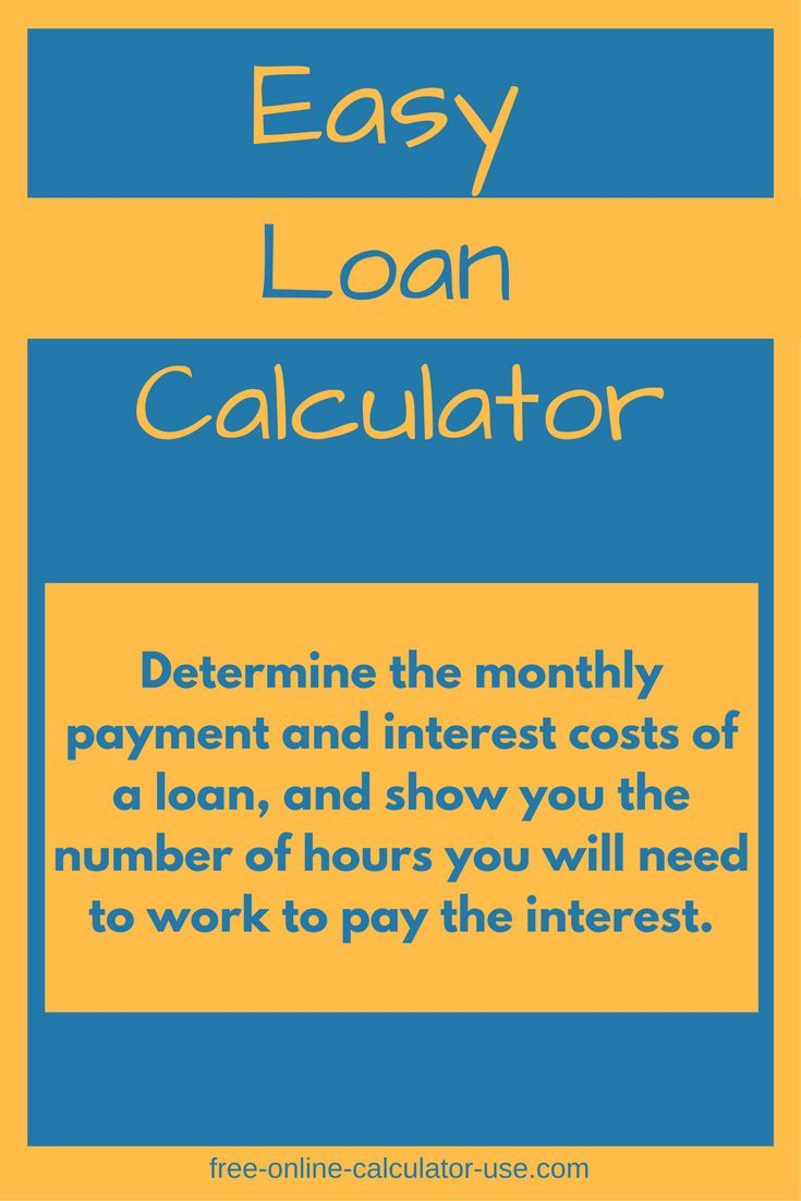 This easy loan calculator will help you to quickly calculate the monthly payment and total interest cost for an amount of money you are looking to borrow.