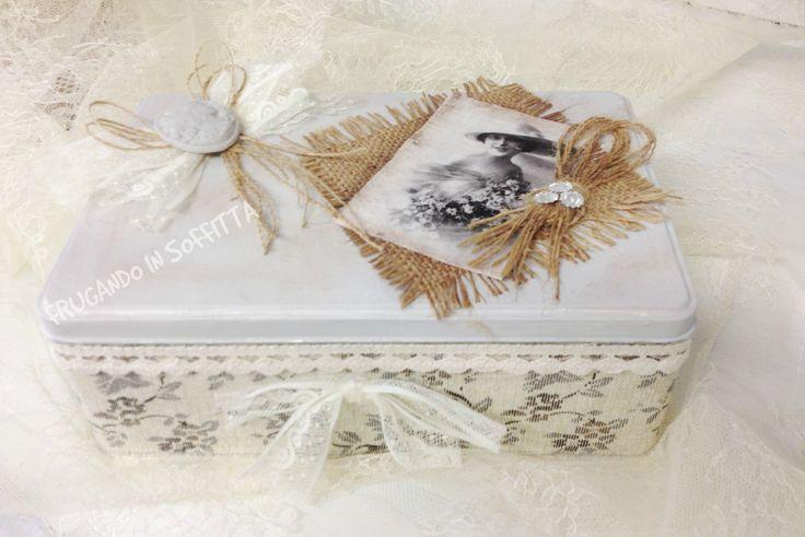 scatola shabby decorata