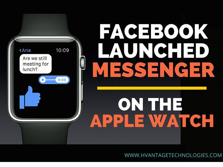 #Facebook launched Messenger on the #Apple Watch. #socialmedia #digitalmarketing