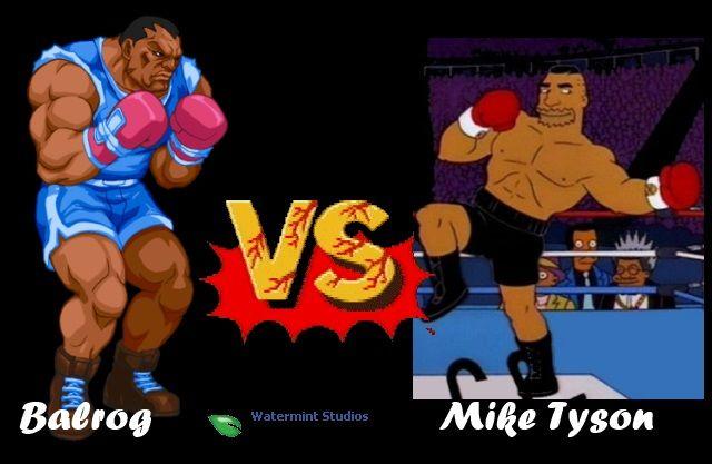Balrog vs Mike Tyson.  Street Fighter.
