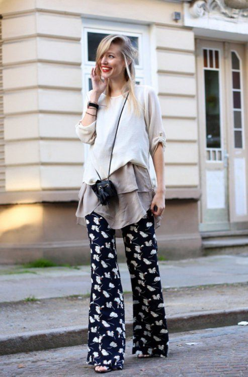 Printed Pants Outfit Ideas (11)