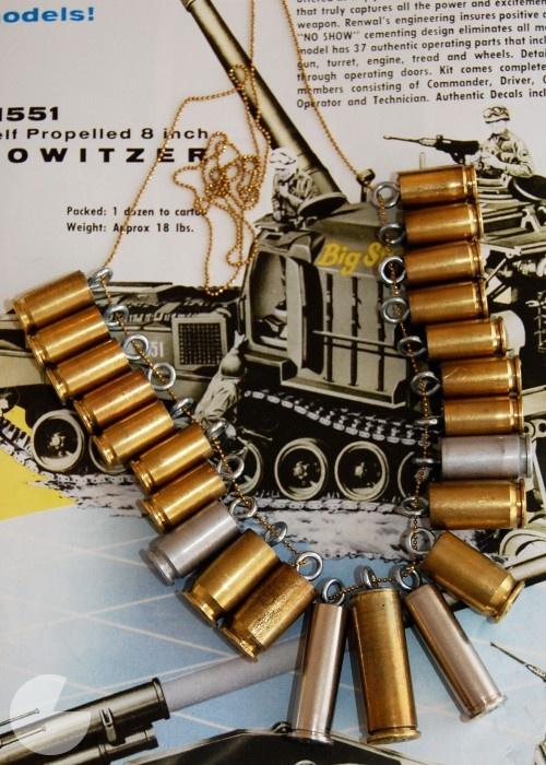 Bullet NecklaceCrafts Ideas, Shells Necklaces, Diy Jewelry, Bullets Shells, Bullets Necklaces, Diy Bullets, Crafty Business, Bullets Jewelry, Jewelry Diy