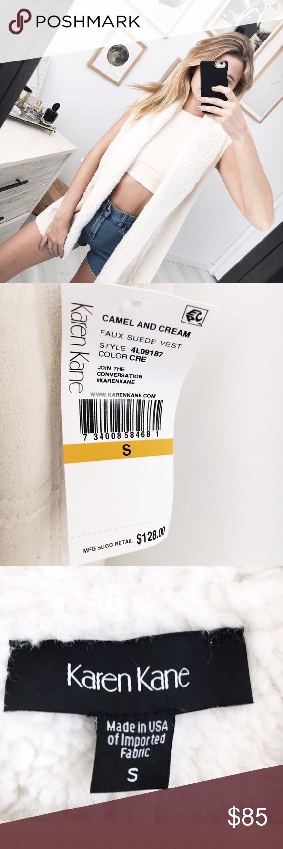 Shearling Vest by Karen Kane Shearling vest by Karen Kane. Size S, new with tags! ✨💛 Karen Kane Jackets & Coats Vests