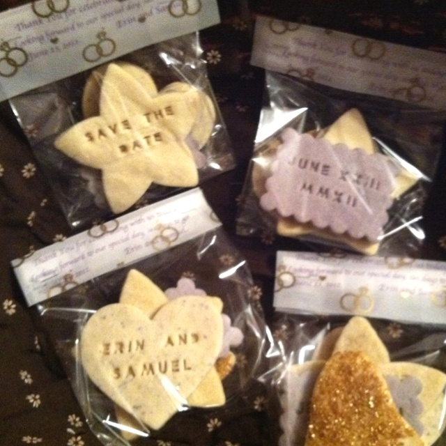 cookie favors we baked for our engagement party!