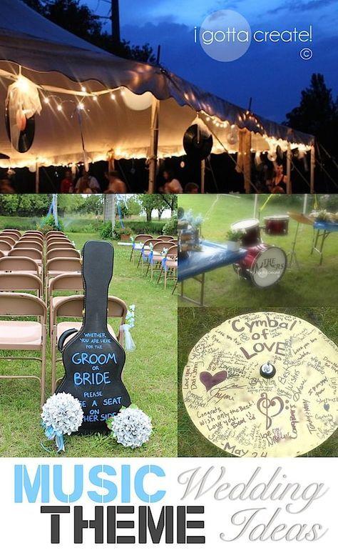 Beautiful music theme #wedding ideas and outdoor wedding.   Inspiration & Tutorials at I Gotta Create!