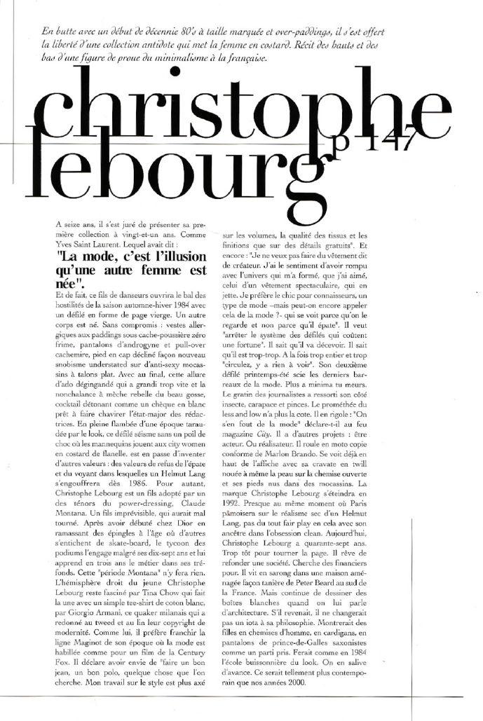 Christophe Lebourg by Samuel Drira, Encens magazine.