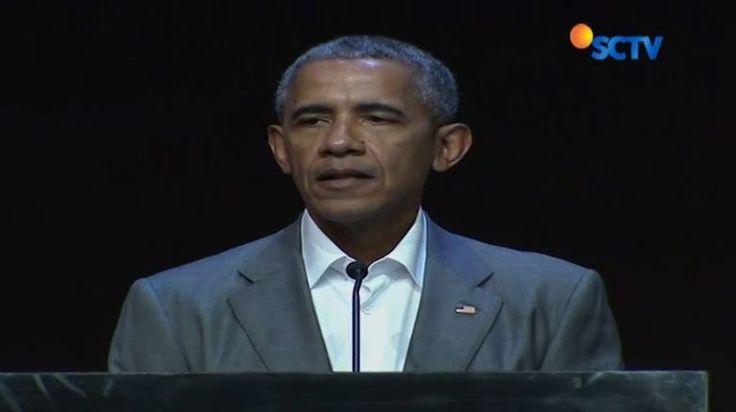Obama melihat kekuatan Indonesia dalam keberagaman suku dan agama namun tetap bisa bersatu dan toleran dalam bingkai Bhinneka Tunggal Ika. #Liputan6SCTV