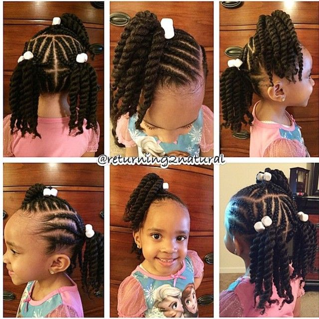 Cute Hairstyle For Little Girl Natural Hair Style Braids