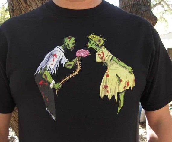 Zombie Shirt  Zombie Love TShirt by zedszombieranch on Etsy, $20.00