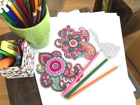 Neu! Mandala malen für Erwachsene als Entspannung (Wirkung, Anleitung, Hintergrund) fit-weltweit.de - YouTube