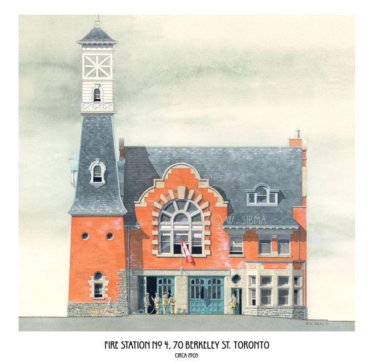 Fire Station No. 4, 70 Berkeley Street Toronto. by WaltsTSquare
