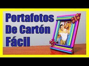 COMO HACER PORTAFOTOS DE CARTON FACILES BONITOS y ORIGINALES Portaretratos #manualidades con #carton faciles sencillas y #originales #tutorial paso a paso
