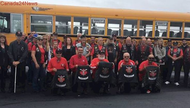 Law enforcement motorcycle club travels to Moncton funeral to mourn one of their own