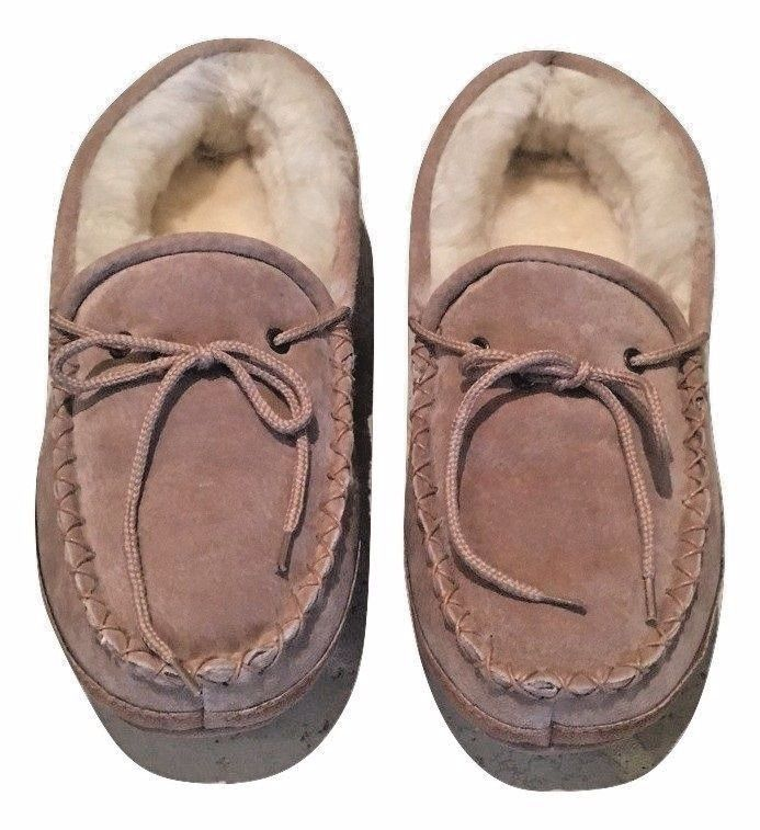 Old Friend Slippers Womens 481193 Sz 11 (Fits Sz 9/10 )Soft Sole Moccasin Beige #OldFriend #MoccasinSlippers