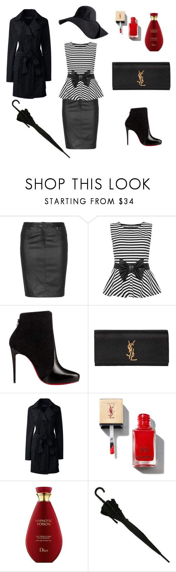 THE STYLE AROUND THE WORLD by lauradamiani on Polyvore featuring moda, WearAll, Lands' End, Zhenzi, Christian Louboutin and Yves Saint Laurent