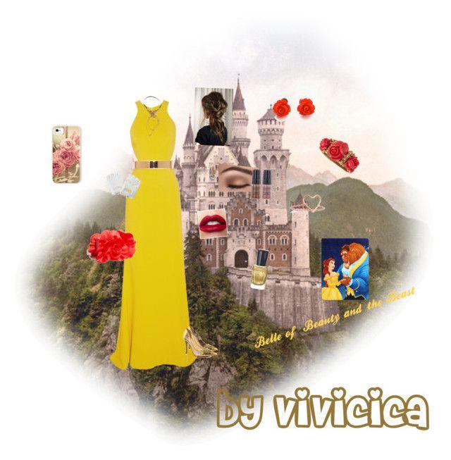 """Belle"" by vivicica on Polyvore featuring STELLA McCARTNEY, Jessica Simpson, Oscar de la Renta, Ariel Gordon, Disney, Luminess Air, Zoya and Samsung"