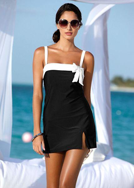 Bandeau swim dress