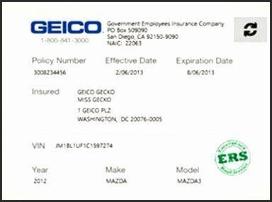 Cards Djnyr Unique Fake Geico Insurance